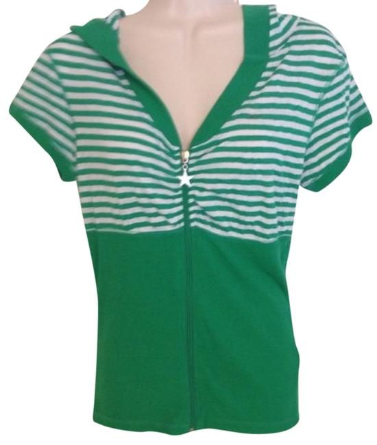 Preload https://item3.tradesy.com/images/mandee-green-white-striped-tee-shirt-size-8-m-783557-0-0.jpg?width=400&height=650