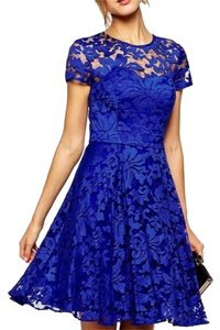 short dress Royal Blue on Tradesy