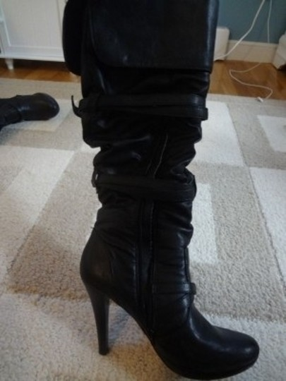 Bakers Knee High Black Boots