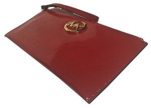 Michael Kors Fulton Sale Wristlet in Red Patent Leather