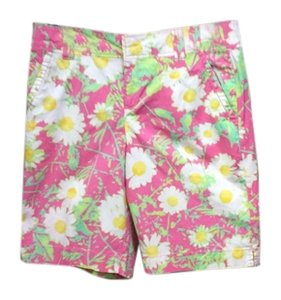 Lilly Pulitzer Pink Bermuda Cotton Bermuda Shorts Multi