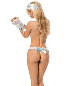 Bridal Lingerie Panty Glove Restraints & Eye Mask Bachelorette Set