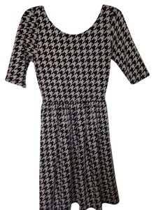 Anthropologie short dress Black and White Houndstooth on Tradesy