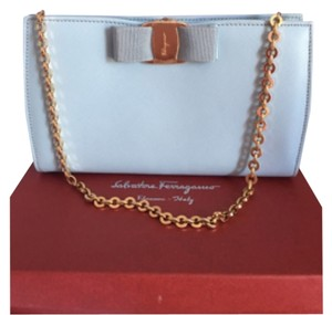 Salvatore Ferragamo Baby Blue Clutch