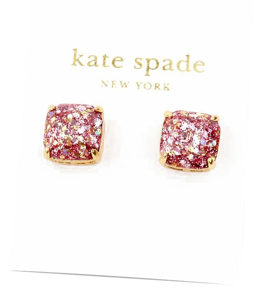 Kate Spade New York Rose Pink Glitter Studs Earrings