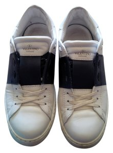 Valentino Patent Leather Rock Stud white and blue Athletic