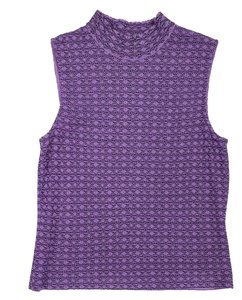 St. John Purple Knit Sleeveless Top