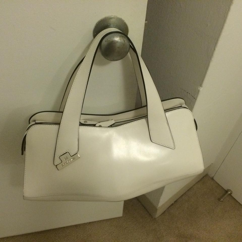 Handbag White 56% Off Satchels Tradesy
