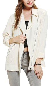 Urban Outfitters Moto Ivory Blazer