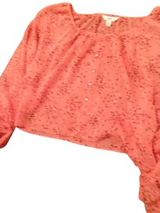 Candie's Top Pink With Black And Red Stars