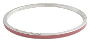 Tiffany & Co. Tiffany & Co. Pink Stripe Enamel Bangle Bracelet New , Rare Retired Piece