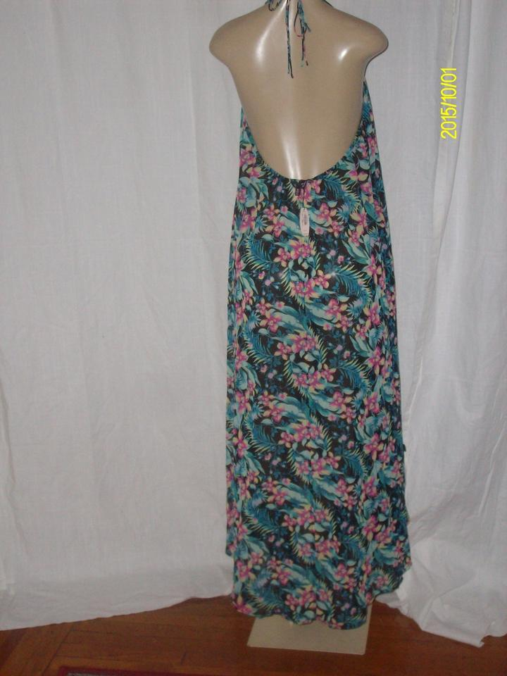 Victoria S Secret Multicolor New Polyester Tail Back Fl Swim Cover Up P Long Dress Size 6 49 Off Retail