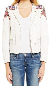 Rebecca Minkoff Leather Motorcycle Runway Catwalk Embroidery Motorcycle Jacket