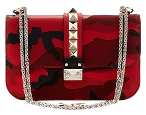 Valentino Rockstud Camo Studded Glamlock Cross Body Bag