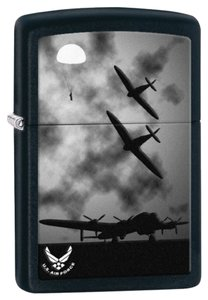 Zippo Zippo Lighter Black US Air Force Planes 28510