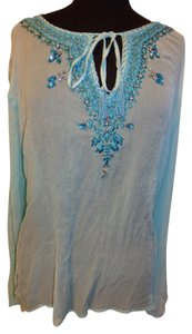 Christine Phillip Beaded Crystal Embroidered Tunic