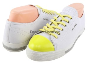 Prada New Sneakers Eur 35.5 Comfortable White/ Yellow Athletic