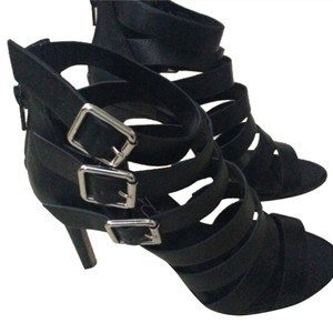 Jessica Simpson Gladiator Stileto Black Pumps