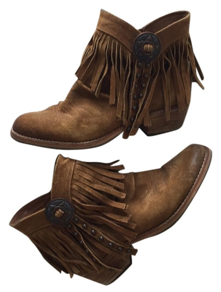 864dabf19 Sam Edelman Brown Sidney Fringe Boots Booties Size US 6.5 Regular (M ...
