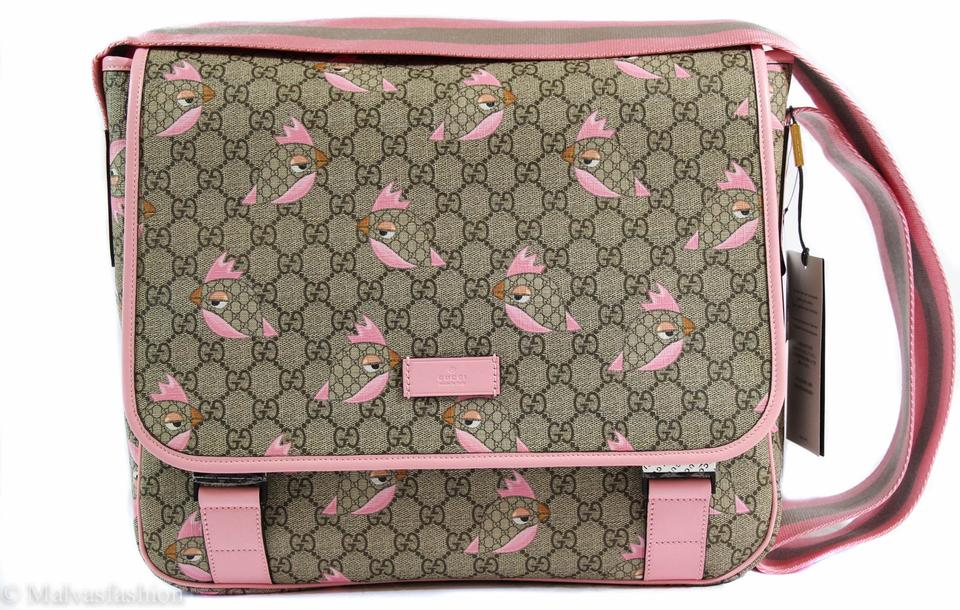 cd66af6541a8 Gucci 270794 Gg Guccissima Zoo Birds Print Multi-color Coated Canvas ...