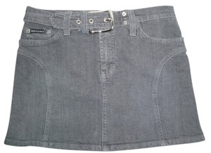 D&G Mini Jean Denim Skirt Gray blue