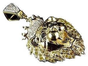 Other 10k Yellow Gold Genuine Diamond Polished King Lion Head Pendant 0.50 Ct 1.5 Ins
