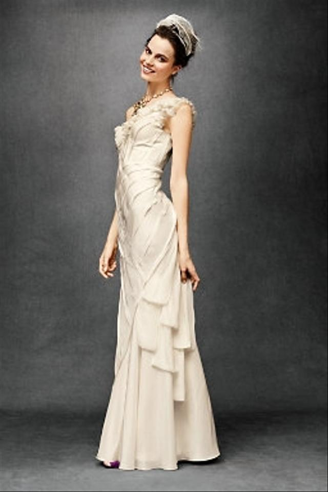 Beholden bhldn ribboned silk gown style 19593714 wedding for Anthropologie beholden wedding dress