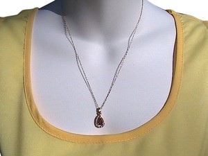 Macy's 18k Gold Over Sterling Silver Garnet Necklace