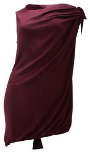 Lanvin short dress Burgundy on Tradesy