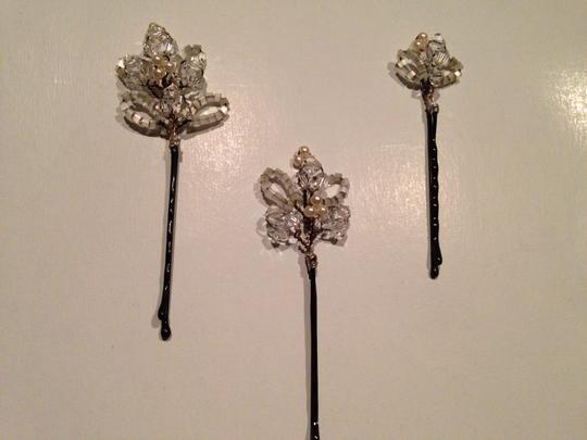Beaded Crystal Hair Pins