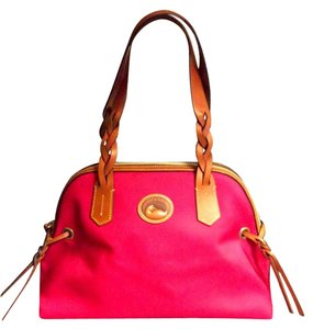 Dooney & Bourke & Nylon Satchel in Pink