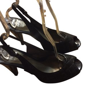 Saks Fifth Avenue Black Platforms