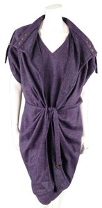 Escada short dress Purple Coat Drawstring Belt on Tradesy