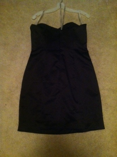 David's Bridal Black Polyester F15103 Formal Bridesmaid/Mob Dress Size 10 (M)