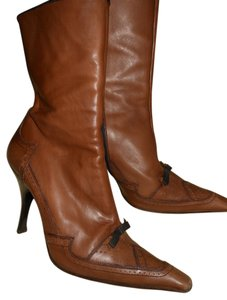 Prada Fall Hot Brown leather Boots
