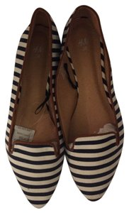 H&M Navy white tan Flats