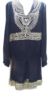 Antik Batik short dress Black/gold Boho on Tradesy