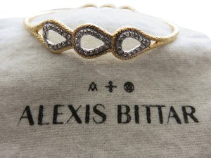 Alexis Bittar NEW! ALEXIS BITTAR Gold and Silver Bangle Bracelet with Crystal Accents. Comes with original pouch.