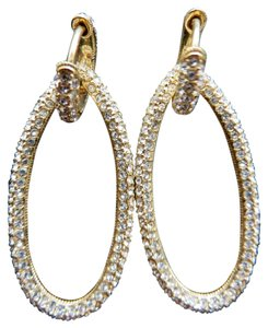 Nordstrom Nordstrom Gold Pave Oval Hoop Earrings