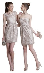 Jenny Yoo Metallic Blush Dress