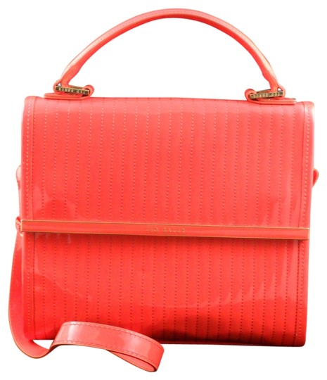 Ted Baker Suno Mini Quilted Enamel New Tote in Orange