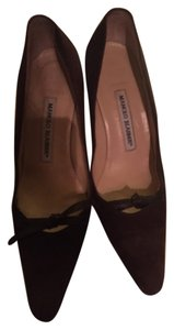 Manolo Blahnik Brown Pumps