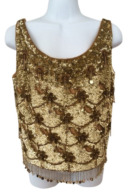 Preload https://img-static.tradesy.com/item/784938/gold-vintage-beaded-night-out-top-size-8-m-0-0-650-650.jpg