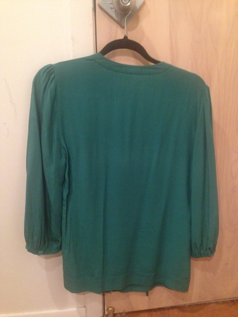 Joie Silk Silk Buttons Neiman Marcus Top Green