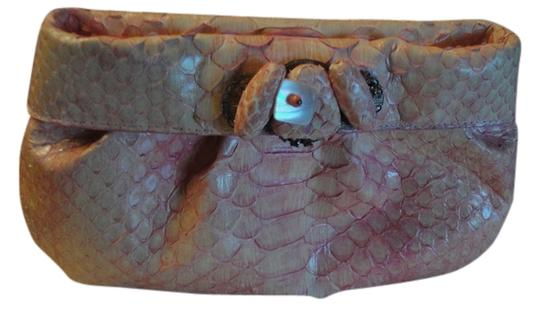 Nancy Gonzalez Python Mint Condition Pink Clutch