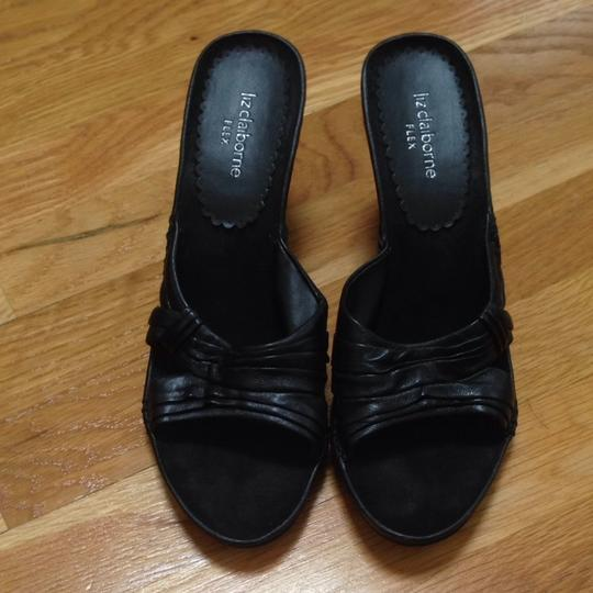 Liz Claiborne Black Wedges