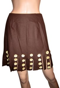 Moschino Mini Skirt Brown