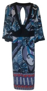 Blue, purple, aqua, black multi Maxi Dress by Torrid Size 1 Polyester Dream Cute X Large Machine Wash Below Knee Length Colored Unique Personality Darling Like New