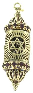 Other 14K KARAT SOLID YELLOW GOLD PENDANT MEZZUZAH RELIGIOUS