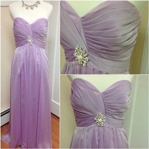 Belsoie Orchid / Sweet Lilac Sweet Heart Strapless Gown Dress